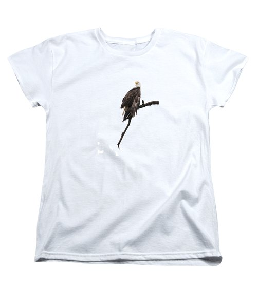 Bald Eagle 5 Women's T-Shirt (Standard Cut) by David Lester