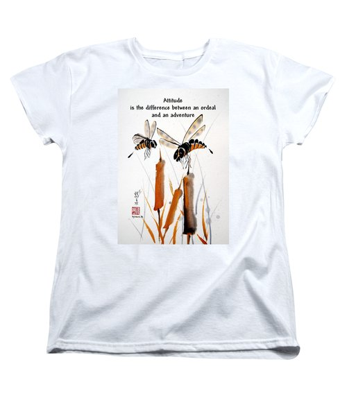 Women's T-Shirt (Standard Cut) featuring the painting Beeing Present by Bill Searle
