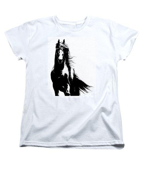 Black Beauty  Women's T-Shirt (Standard Cut) by Kate Black