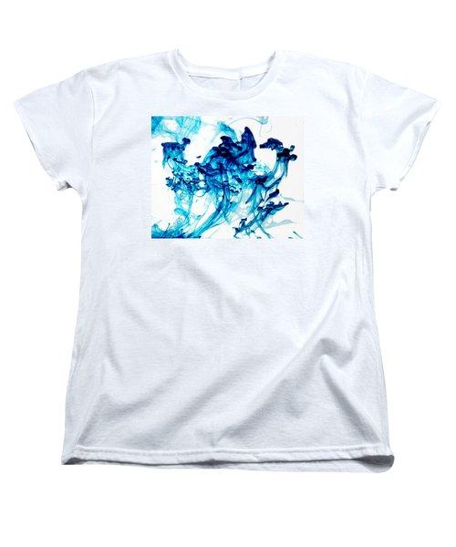 Blue Chaos Women's T-Shirt (Standard Cut) by Liz Masoner