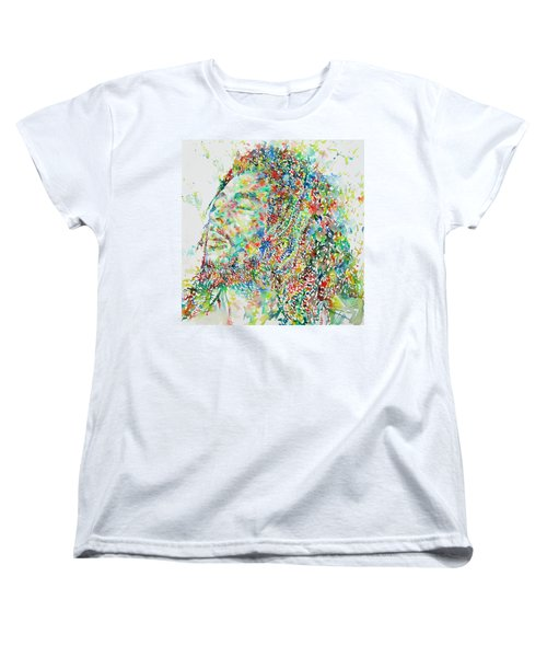Bob Marley Watercolor Portrait.1 Women's T-Shirt (Standard Cut)