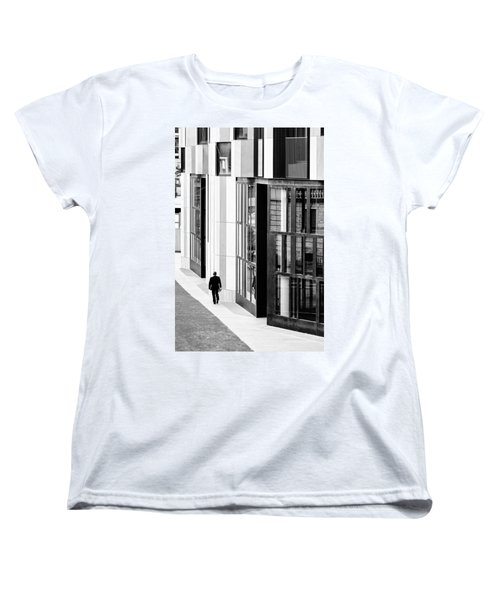 Business Man In Milan Women's T-Shirt (Standard Cut) by Alfio Finocchiaro