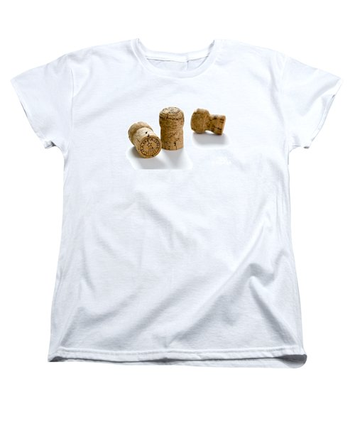 Women's T-Shirt (Standard Cut) featuring the photograph Champagne Corks by Lee Avison