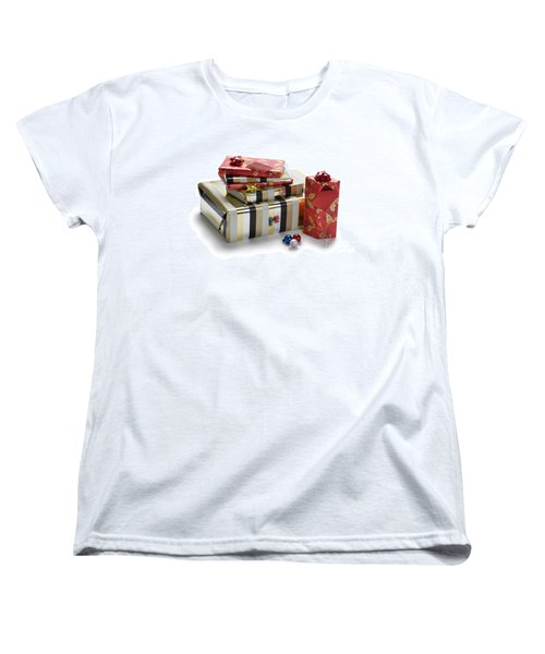 Women's T-Shirt (Standard Cut) featuring the photograph Christmas Gifts by Lee Avison