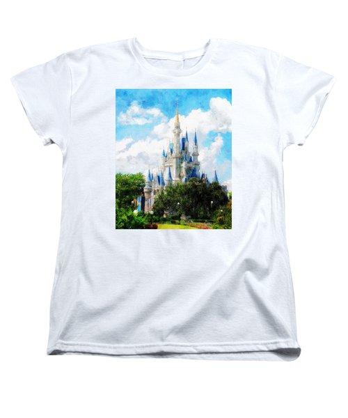 Cinderella Castle Women's T-Shirt (Standard Cut) by Sandy MacGowan