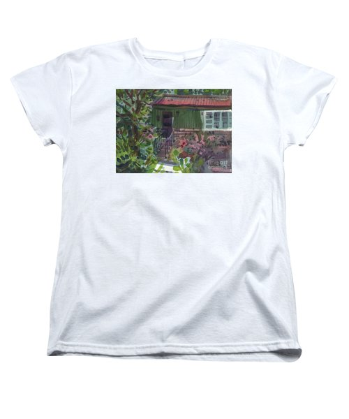 Women's T-Shirt (Standard Cut) featuring the painting Entrance by Donald Maier