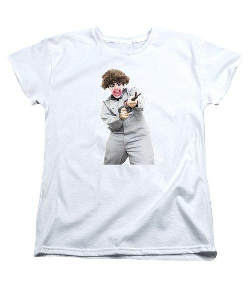 Female Psycho Killer Women's T-Shirt (Standard Cut) by Jorgo Photography - Wall Art Gallery