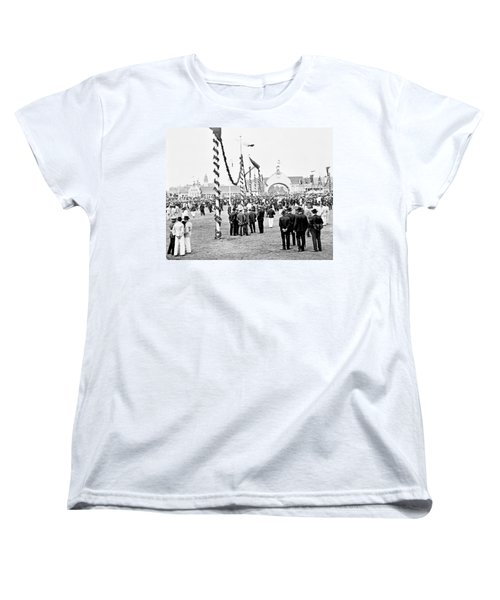 Women's T-Shirt (Standard Cut) featuring the photograph Festival Place Millerntor Hamburg Germany 1903 by A Gurmankin