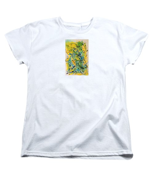 Women's T-Shirt (Standard Cut) featuring the painting Fish Frenzy by Lyn Olsen