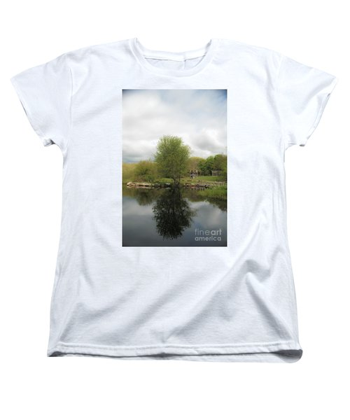 Grays Mill Pond Women's T-Shirt (Standard Cut) by Angela DeFrias