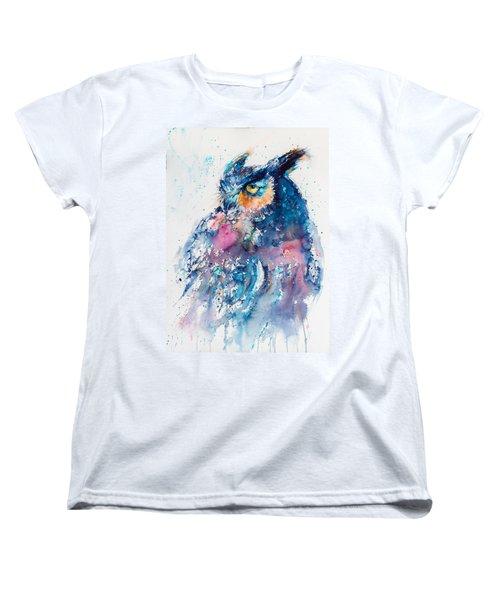 Great Horned Owl Women's T-Shirt (Standard Cut) by Kovacs Anna Brigitta