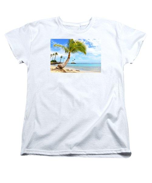 Women's T-Shirt (Standard Cut) featuring the photograph Hawaiian Paradise by Kristine Merc