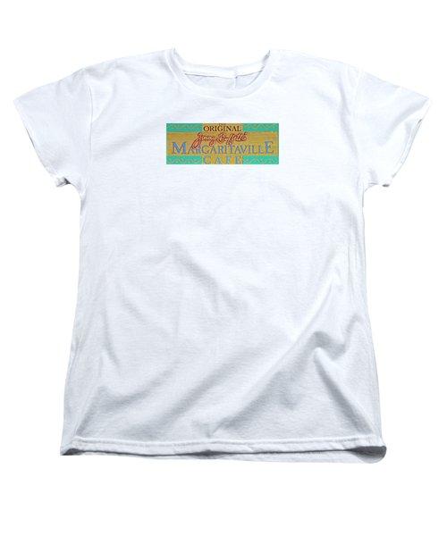 Jimmy Buffetts Margaritaville Cafe Sign The Original Women's T-Shirt (Standard Cut)