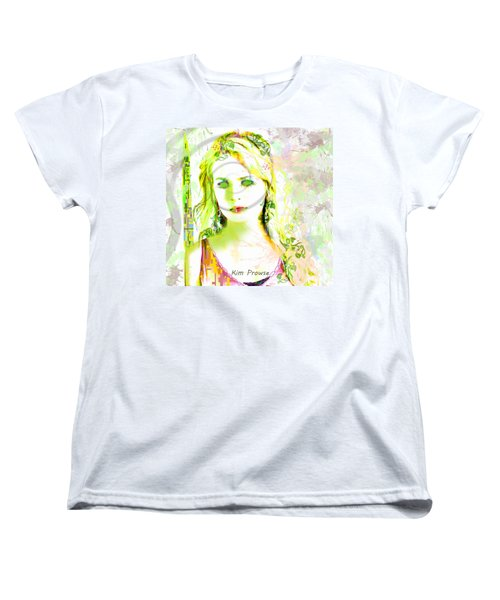 Women's T-Shirt (Standard Cut) featuring the digital art Lily Lime by Kim Prowse