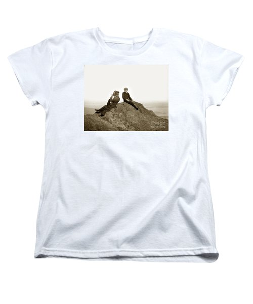 Women's T-Shirt (Standard Cut) featuring the photograph Mount Tamalpais Marin County  Circa 1902 by California Views Mr Pat Hathaway Archives
