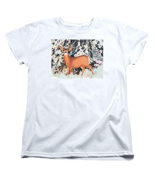 Mule Deer Women's T-Shirt (Standard Cut) by Dan Miller