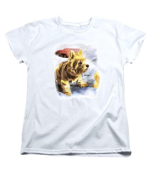Norwich Terrier Fire Dog Women's T-Shirt (Standard Cut) by Susan Stone