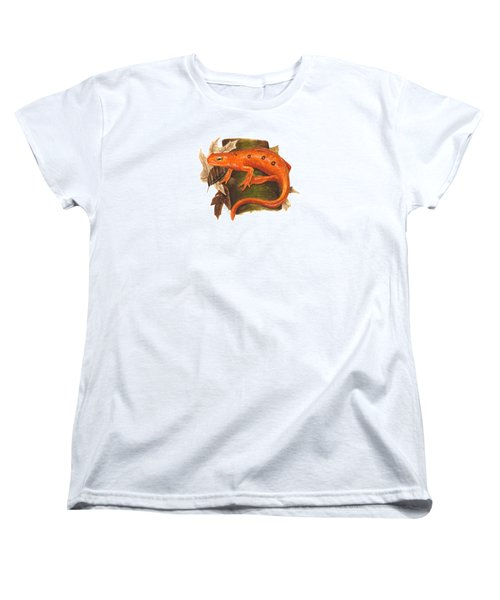 Red Eft Women's T-Shirt (Standard Cut) by Cindy Hitchcock