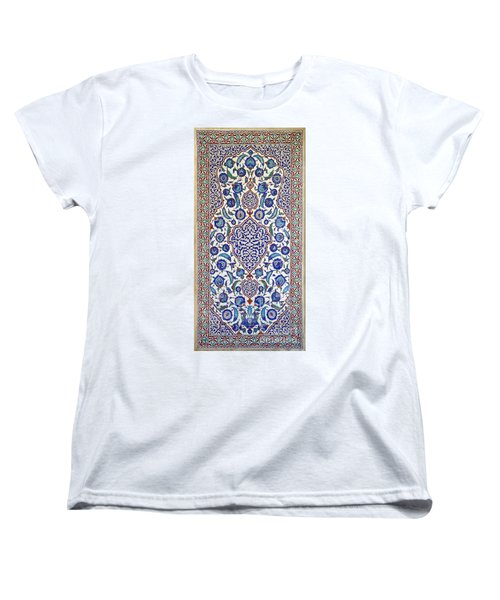 Sultan Selim II Tomb 16th Century Hand Painted Wall Tiles Women's T-Shirt (Standard Cut) by Ralph A  Ledergerber-Photography