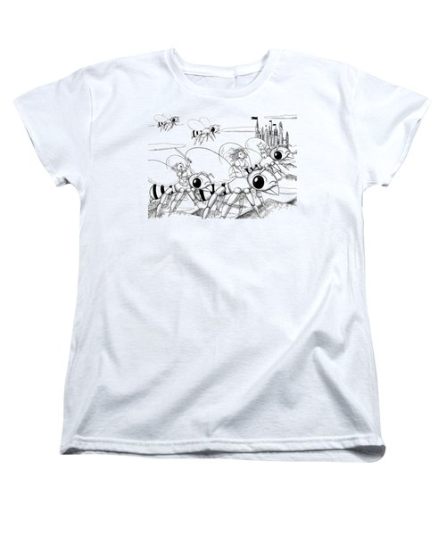 Women's T-Shirt (Standard Cut) featuring the drawing Tammy In Polynesia by Reynold Jay