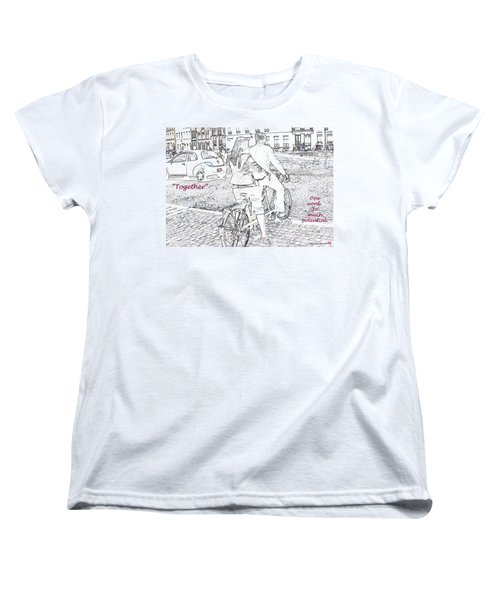 Women's T-Shirt (Standard Cut) featuring the photograph Together by Rhonda McDougall