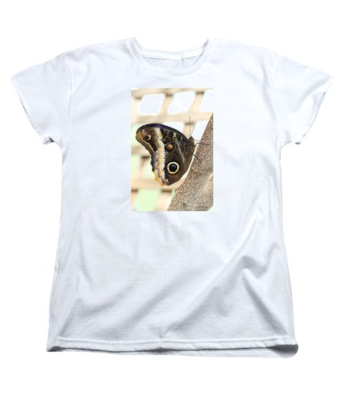 Yellow-edged Giant Owl Butterfly #4 Women's T-Shirt (Standard Cut) by Judy Whitton