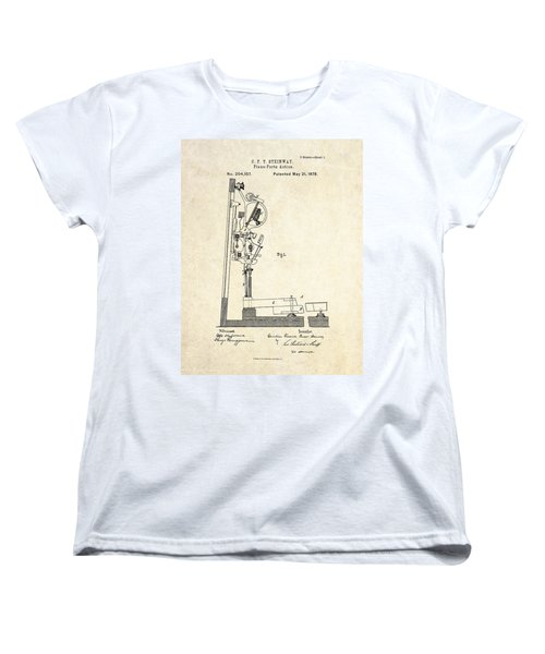 1878 Steinway Piano Forte Action Patent Art  Women's T-Shirt (Standard Cut) by Gary Bodnar