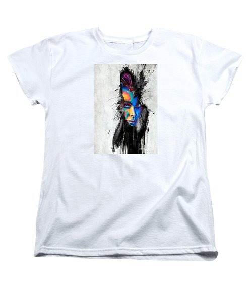 Women's T-Shirt (Standard Cut) featuring the painting Facial Expressions by Rafael Salazar