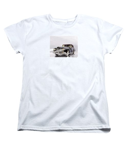 1946 Lincoln Continental Convertible Foggy Reflection Women's T-Shirt (Standard Cut) by Jack Pumphrey
