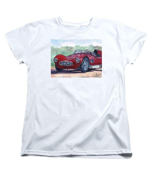 1954 Maserati A6 Gsc Tipo Mm Women's T-Shirt (Standard Cut) by Anna Ruzsan
