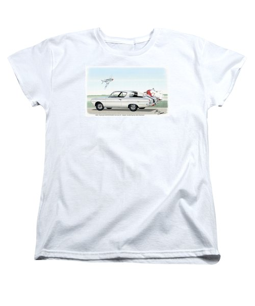 1965 Barracuda  Classic Plymouth Muscle Car Women's T-Shirt (Standard Cut) by John Samsen