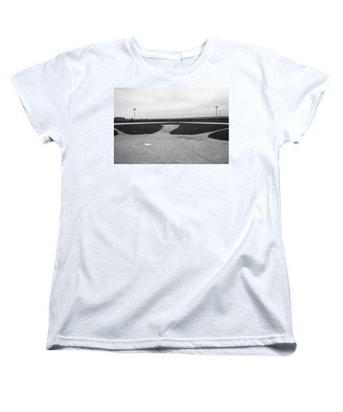 Baseball Women's T-Shirt (Standard Cut) by Frank Romeo