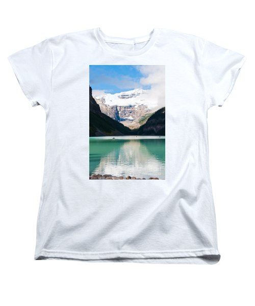 Women's T-Shirt (Standard Cut) featuring the photograph Beautiful Lake Louise by Cheryl Baxter
