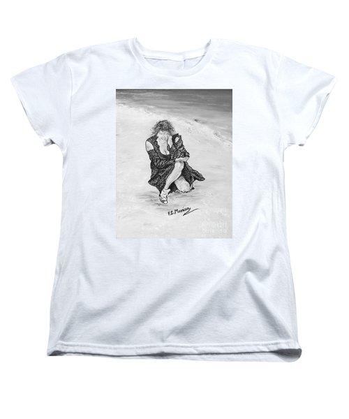 Women's T-Shirt (Standard Cut) featuring the painting Disperazione by Loredana Messina