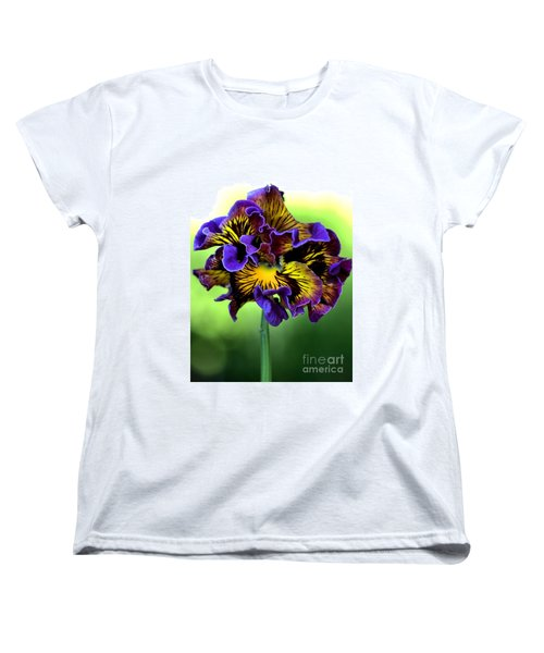 Frilly Pansy Women's T-Shirt (Standard Cut) by Joy Watson