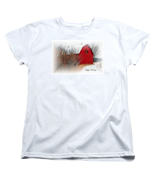 Women's T-Shirt (Standard Cut) featuring the photograph Happy Holidays by Terri Gostola