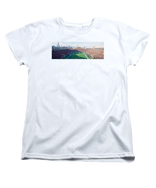 High Angle View Of Spectators Women's T-Shirt (Standard Cut) by Panoramic Images