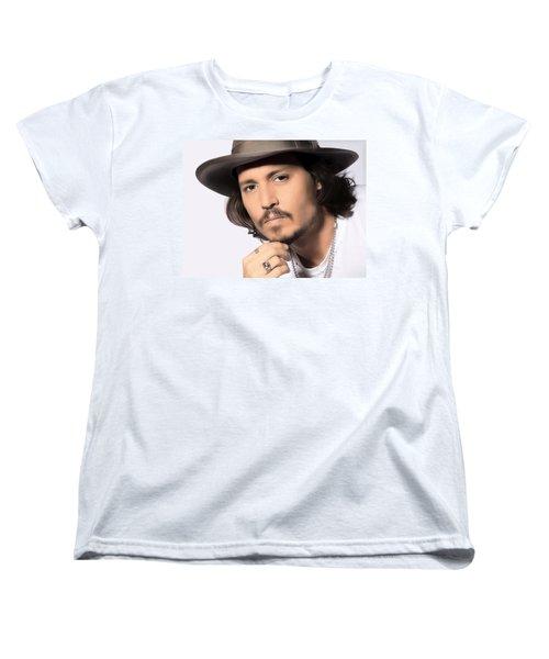 Johnny Depp Women's T-Shirt (Standard Cut) by Karon Melillo DeVega
