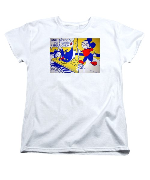 Lichtenstein's Look Mickey Women's T-Shirt (Standard Cut) by Cora Wandel