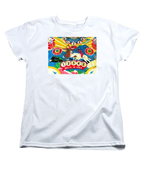 Native Pinball Women's T-Shirt (Standard Cut) by Beth Saffer