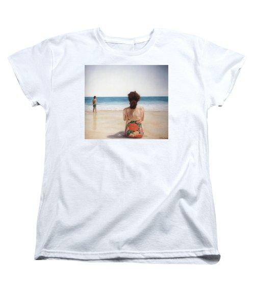 On The Beach Women's T-Shirt (Standard Cut) by Rich Milo
