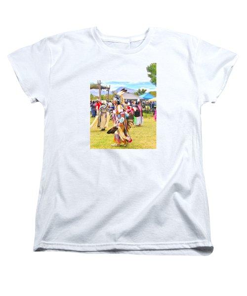 Paiute Powwow Women's T-Shirt (Standard Cut) by Marilyn Diaz