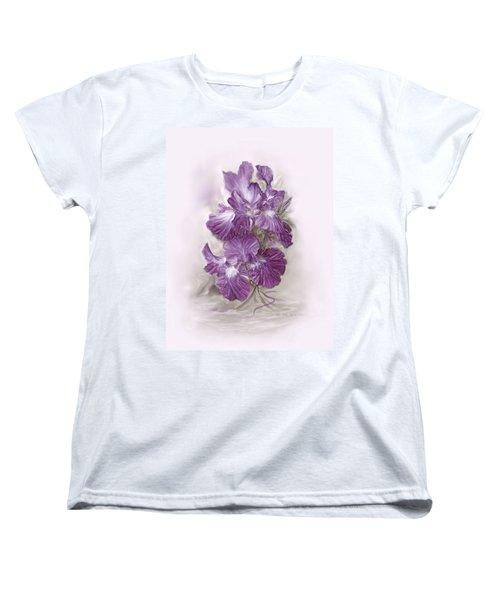 Purple Iris Women's T-Shirt (Standard Cut) by Bonnie Willis