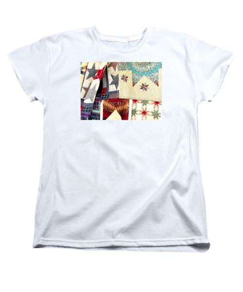 Women's T-Shirt (Standard Cut) featuring the photograph Quilts For Sale by Janette Boyd