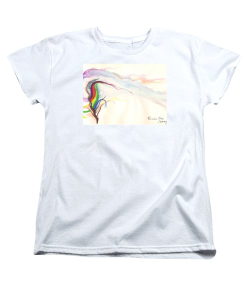 Women's T-Shirt (Standard Cut) featuring the painting Rainbow Tree by Rod Ismay