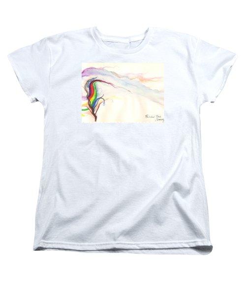 Rainbow Tree Women's T-Shirt (Standard Cut)
