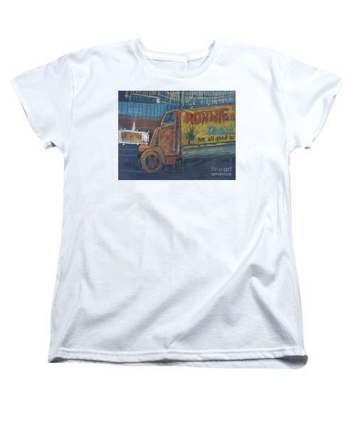 Women's T-Shirt (Standard Cut) featuring the painting Ronnie John's by Donald Maier