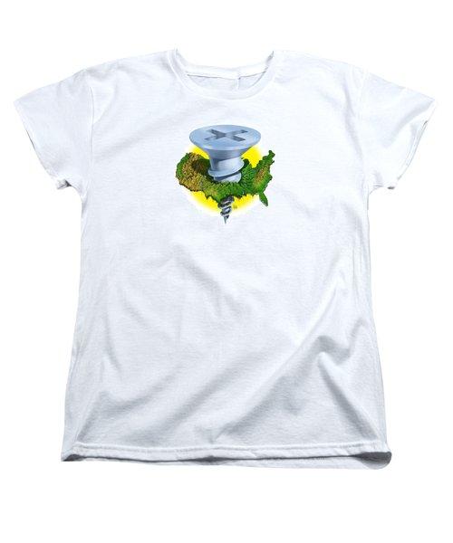 Screwed Women's T-Shirt (Standard Cut) by Scott Ross