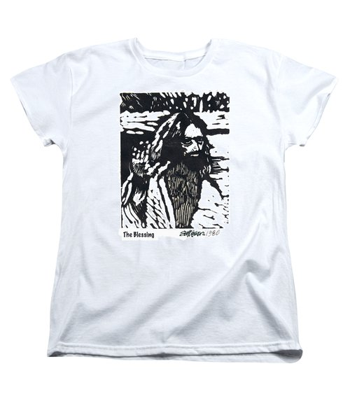 Women's T-Shirt (Standard Cut) featuring the relief The Blessing by Seth Weaver