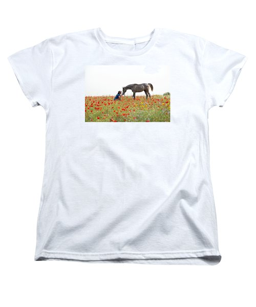 Three At The Poppies' Field... 4 Women's T-Shirt (Standard Cut) by Dubi Roman
